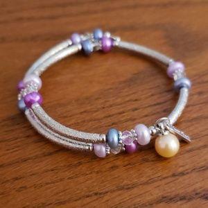 Vantel Pearls Lavender Fields Wrap bracelet